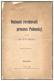 Le texte de Tomáš Masaryk sur l'affaire Hilsner