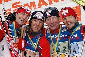 Martin Jaks, Milan Sperl, Lukas Bauer et Martin Koukal, photo: CTK