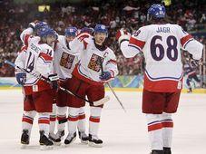 Jaromír Jágr et ses partenaires ont battu la Slovaquie (3-1), photo: CTK