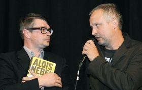 Jaroslav Rudiš et Jaroslav Švejdík (Jaromír 99), photo: CTK