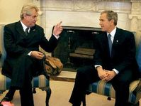 Prime Minister Milos Zeman and President George W. Bush, photo: CTK