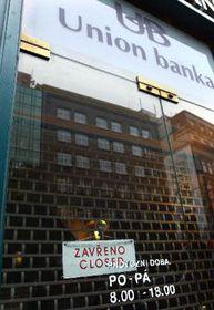 El banco Unión, foto: CTK