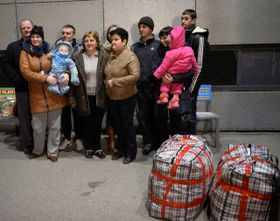 The first group of ethnic Czechs from eastern Ukraine, repatriated under a special government programme, has finally arrived in the Czech Republic, photo: CTK