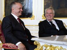 Andrej Kiska, Miloš Zeman, photo: CTK