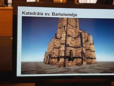 3D-Modell der Bartholomäus-Kathedrale (Foto: Jan Markup, Archiv des Tschechischen Rundfunks)