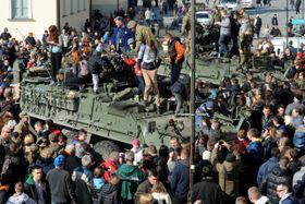 Le convoi militaire américain en Pologne, photo: ČTK