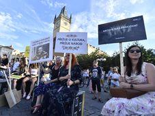 'Za živou hudbu' protest, photo: ČTK/Vít Šimánek