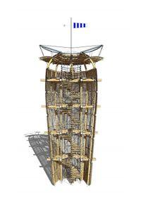 'Cactus' watchtower visualisation by Martin Rajniš