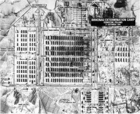 Luftaufnahme von Auschwitz II (Birkenau). Foto: National Archives, Washington, DC, Public Domain
