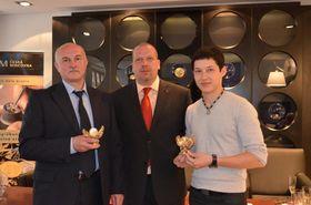 Александр Белов, Алеш Брикс, Азамат Балтаев (Фото: пресс-сервис Чешского монетного двора)