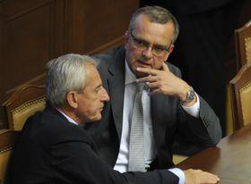 Leoš Heger y Miroslav Kalousek, foto: ČTK