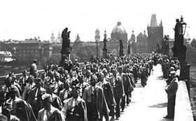 Sokols on Charles Bridge in 1929