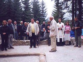 Vaclav Sklenar, Willi Steger u. Alois Pavlicko (ganz rechts)