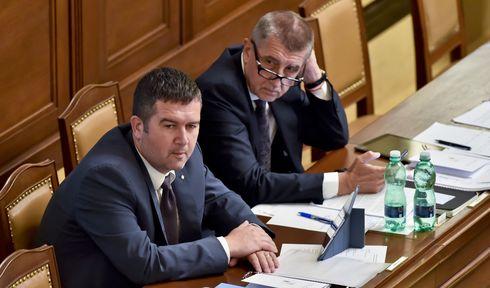 Jan Hamáček y Andrej Babiš, foto: ČTK/Šimánek Vít