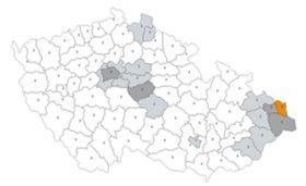 Riesgo actual de la COVID-19 en Chequia, fuente: Archivo del Ministerio de Salud checo