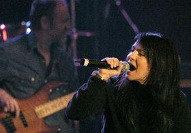 Анна К. на благотворительном концерте в зале «Люцерна» (Фото: ЧТК)
