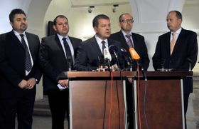 Zleva Tomáš Úlehla, Jan Florián, Petr Tluchoř, Ivan Fuksa aMarek Šnajdr, foto: ČTK