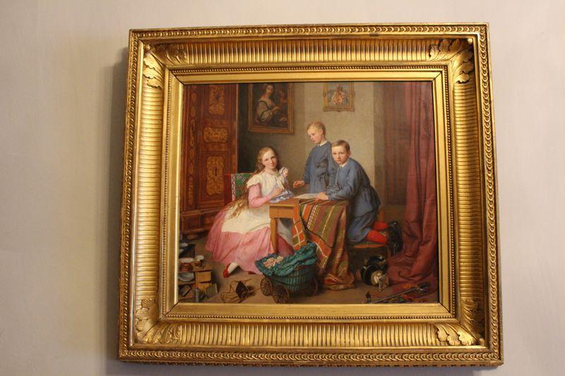 Pintura de Josef Mánes, el palacio de Čechy pod Kosířem, foto: Aleš Spurný, ČRo