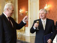 Miloš Zeman et Jiří Rusnok, photo: ČTK