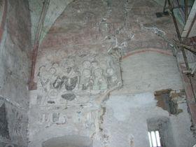 Los frescos en la capilla de la Virgen María en Becov