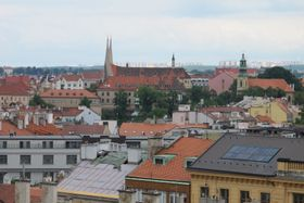 Силуэт монастыря на фоне Праги, Фото: Кристина Макова, Чешское радио - Радио Прага