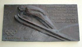 Мемориальная доска в городке Френштат-под-Радгоштем