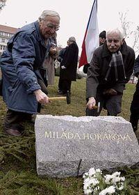 Foundation-stone of the memorial to Milada Horakova, photo: CTK