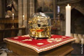 Lebka sv. Lukáše, foto: Martina Řehořová / oficiální stránky Katedrály sv. Víta, Václava aVojtěcha