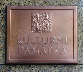 El rótulo 'Monumento Cultural', foto: Jana Sustova