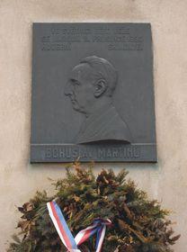 Placa conmemorativa a Bohuslav Martinů, su casa natal en Polička, foto: Lysippos / CC BY-SA 3.0