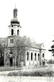 Church of St. Michael in Libkovice in 1998, photo: Nadkachna, CC BY 3.0