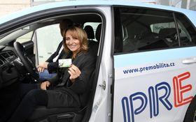 Мэр Праги Адриана Крначова представила проект carsharing, Фото: ЧТК