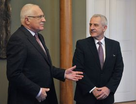 Václav Klaus et Leoš Heger, photo: CTK