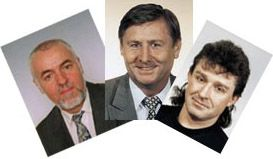 De izquierda: Vaclav Exner, Miroslav Grebenicek y Jiri Dolejs