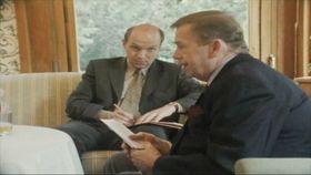 Václav Havel et Pavel Fischer, photo: Video Aktuálně