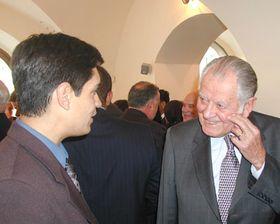 Patricio Aylwin (dra.) con Carlos González-Shánel, foto: Freddy Valverde