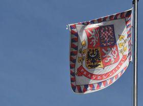 Czech presidential flag, photo: Filip Jandourek