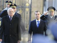 Václav Klaus, Dmitry Medvedev, photo: CTK