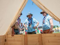 2019 World Scout Jamboree - podsada tent, photo: Dominik David / Czech Radio