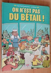 Photo: repro Jean-Fred Cambianica, Le Cil Vert, 'On n'est pas du bétail! / Delcourt'