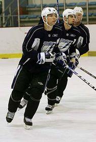 Tampa Bay Lightning on the ice at Prague's 02 Arena, photo: CTK
