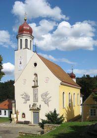 Kostel navštívení Panny Marie vHlubokých Mašůvkách, foto: oficiální stránky Poutní místo Hluboké Mašůvky