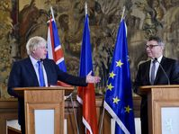 Boris Johnson, Lubomír Zaorálek, photo: CTK