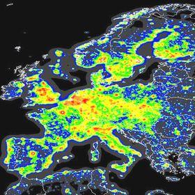 Световой смог, фото: Королевское астрономическое общество