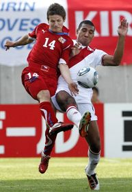 Václav Pilař (Czech R.), Giancarlo Carmona (Peru), photo: CTK