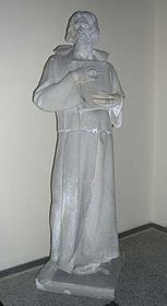 Hus-Statue in der Kirche in Pecky (Foto: Autorin)