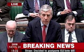 Foreign minister of Great Britain Jack Straw, photo: CTK