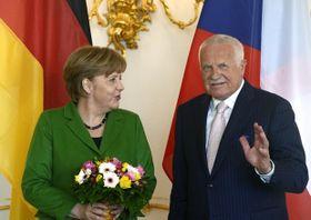 Вацлав Клаус и Ангела Меркель (Фото: ЧТК)