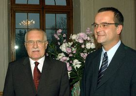 Vaclav Klaus and Miroslav Kalousek, photo: CTK