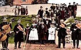 Skřipkařská kapela na svatbě